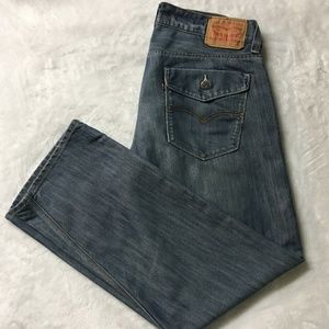 Mens Levi's 514 Regular Straight Fit Jeans 36x30